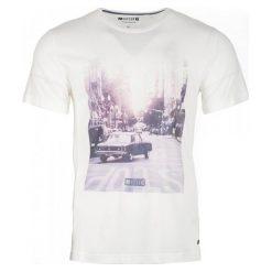 T-shirty męskie: Mustang T-Shirt Męski Photoprint M Kremowy