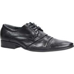 Czarne buty wizytowe sznurowane Casu 882-9. Czarne buty wizytowe męskie Casu, na sznurówki. Za 59,99 zł.