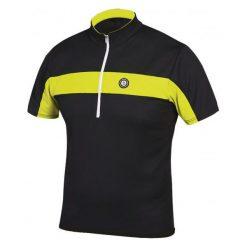 Etape Koszulka Na Rower Face Black/Yellow Fluo M. Czarne odzież rowerowa męska marki Etape, m, z krótkim rękawem, rowerowe. Za 149,00 zł.