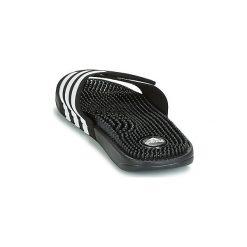 Klapki adidas  ADISSAGE SYNTHETIC. Czarne klapki męskie marki Adidas, z kauczuku. Za 116,10 zł.