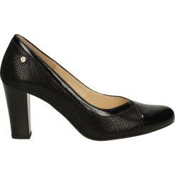 Czółenka - F227 T-B NERO. Czarne buty ślubne damskie Venezia, ze skóry. Za 199,00 zł.
