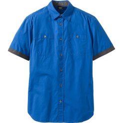 Koszula z krótkim rękawem bonprix lazurowy. Brązowe koszule męskie marki QUECHUA, m, z elastanu, z krótkim rękawem. Za 49,99 zł.