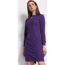 Fioletowa Sukienka Multieloquent. Fioletowe sukienki na komunię marki Born2be, l, z tkaniny, z okrągłym kołnierzem, z długim rękawem, midi. Za 89,99 zł.