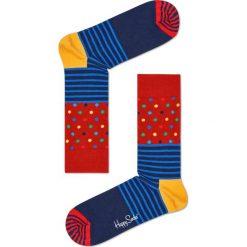 Happy Socks - Skarpety Stripe&Dots. Szare skarpetki męskie Happy Socks. Za 39,90 zł.