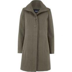Płaszcz bonprix ciemnooliwkowy. Zielone płaszcze damskie bonprix. Za 169,99 zł.
