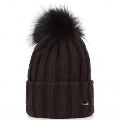 Czapka damska 87-HF-011-1. Czarne czapki zimowe damskie Wittchen, na zimę, z dzianiny. Za 59,00 zł.