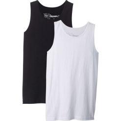 Odzież chłopięca: Koszulka bez rękawów (2 szt.) bonprix czarny + biały
