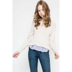 Only - Sweter Naja. Szare swetry klasyczne damskie marki ONLY, s, z bawełny, casualowe, z okrągłym kołnierzem. W wyprzedaży za 59,90 zł.