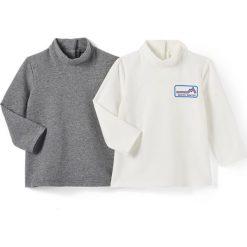 T-shirty chłopięce: T-shirt ML z golfem 1 miesiąc – 3 latka (zestaw 2 szt.)