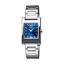Zegarek Casio damski Sewora Quartz srebrny (LTP-1283D-2A2EF). Szare zegarki damskie CASIO, srebrne. Za 144,00 zł.