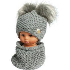 Czapka dziecięca z kominkiem CZ+K 173I szara r. 48-50. Szare czapeczki niemowlęce Proman. Za 62,96 zł.