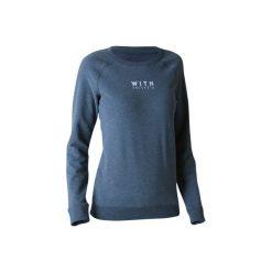 Bluza Gym & Pilates 500 damska. Czarne bluzy sportowe damskie marki DOMYOS, z elastanu. W wyprzedaży za 29,99 zł.