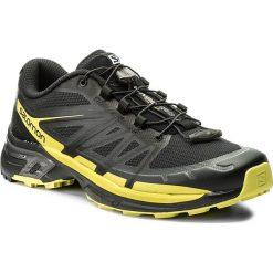 Buty SALOMON - Wings Pro 2 399668 27 W0 Black/Sulphur Spring/Black. Szare buty do biegania męskie marki Salomon, z gore-texu, na sznurówki, gore-tex. W wyprzedaży za 399,00 zł.
