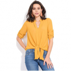 Charlotte Et Louis Bluzka Damska Victoire 38 Żółty. Żółte bluzki asymetryczne Charlotte Et Louis. Za 169,00 zł.