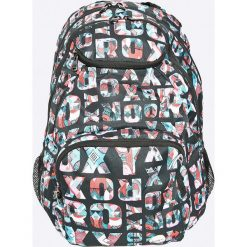 Roxy - Plecak. Szare plecaki damskie Roxy, w paski, z materiału. W wyprzedaży za 99,90 zł.