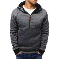 Bluzy męskie: Bluza męska z kapturem szara (bx3436)