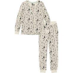Piżamy damskie: Piżama bonprix beżowy z nadrukiem