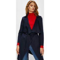 Answear - Płaszcz. Czarne płaszcze damskie marki ANSWEAR, l, z elastanu. W wyprzedaży za 69,90 zł.
