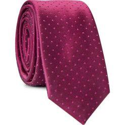 Krawat KWAS001550. Czerwone krawaty męskie Giacomo Conti, w kropki, z mikrofibry. Za 69,00 zł.