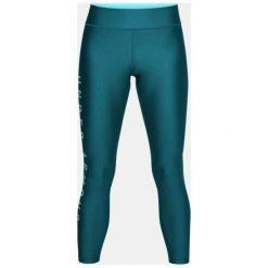 Spodnie sportowe damskie: Under Armour Spodnie damskie HeatGear Branded Ankle Crop turkusowe r. M (1320587-716)