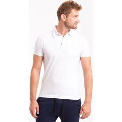 Koszulka polo męska TSM050Z - biały - 4F. Białe koszulki polo marki 4f, na jesień, m, z bawełny. Za 59,99 zł.