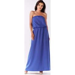 Niebieska Maxi Sukienka z Odkrytymi Ramionami. Niebieskie długie sukienki marki Reserved, z odkrytymi ramionami. Za 129,90 zł.