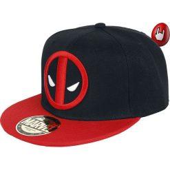Czapki damskie: Deadpool Logo Czapka Snapback czarny/czerwony