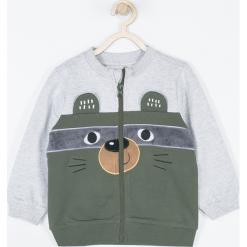 Bluza. Szare bluzy chłopięce rozpinane marki FOREST, na jesień, z aplikacjami, z bawełny. Za 69,90 zł.