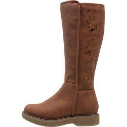 Anna Field Kozaki na platformie cognac. Brązowe buty zimowe damskie marki Anna Field, z materiału, na platformie. W wyprzedaży za 136,95 zł.