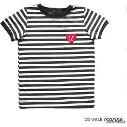 Bluzki, topy, tuniki: TSHIRT – OX marine- HEART
