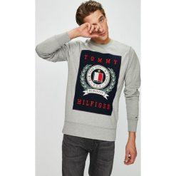 Tommy Hilfiger - Bluza. Szare bluzy męskie rozpinane marki TOMMY HILFIGER, l, z aplikacjami, z bawełny, bez kaptura. Za 499,90 zł.