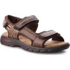 Sandały męskie skórzane: Sandały LASOCKI FOR MEN – MI07-A644-A505-01 Brązowy