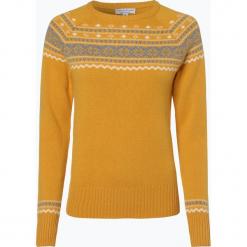Marie Lund - Sweter damski, żółty. Żółte swetry klasyczne damskie Marie Lund, l, z wełny. Za 179,95 zł.