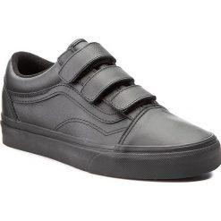 Półbuty VANS - Old Skool V VA3D29OOZ  (Mono Leather) Black. Szare półbuty damskie skórzane marki Vans, na sznurówki. W wyprzedaży za 279,00 zł.