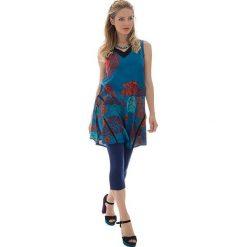 Odzież damska: Sukienka w kolorze niebiesko-czerwonym