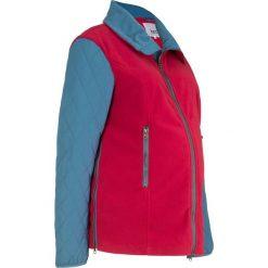 Bluza ciążowa rozpinana z mikropolaru, z watowanymi rękawami bonprix ciemnoczerwono-niebieski dżins. Czerwone bluzy ciążowe marki bonprix, z polaru. Za 124,99 zł.