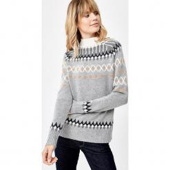 Sweter wełniany w kolorze szarym. Szare swetry klasyczne damskie marki Manode, s, z kaszmiru, ze stójką. W wyprzedaży za 391,95 zł.