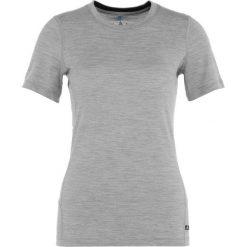 Podkoszulki damskie: ODLO TOP CREW NECK NATURAL Podkoszulki grey melange/black