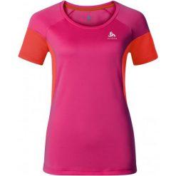Bluzki sportowe damskie: Odlo Koszulka Versilia T-Shirt S/S Beetroot Purple - Cherry Tomato S