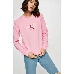 Calvin Klein Jeans - Bluza. Szare bluzy rozpinane damskie Calvin Klein Jeans, l, z nadrukiem, z bawełny, bez kaptura. Za 449,90 zł.