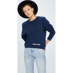 Tommy Jeans - Bluza. Szare bluzy damskie Tommy Jeans, l, z bawełny, bez kaptura. W wyprzedaży za 279,90 zł.