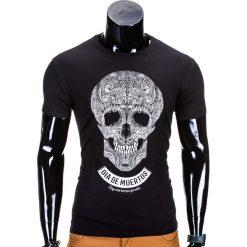 T-shirty męskie z nadrukiem: T-SHIRT MĘSKI Z NADRUKIEM S611 – CZARNY