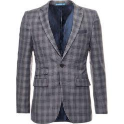 Marynarki męskie slim fit: Burton Menswear London CHAR CHECK Marynarka garniturowa grey