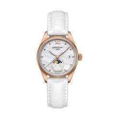 PROMOCJA ZEGAREK CERTINA DS 8 C033.257.36.118.00. Białe zegarki damskie CERTINA, pozłacane. W wyprzedaży za 1795,20 zł.