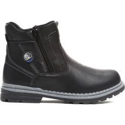 Czarne Traperki Big-City. Czarne buty zimowe chłopięce Born2be, z materiału, z okrągłym noskiem, na zamek. Za 79,99 zł.