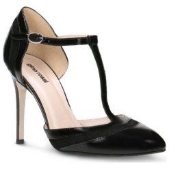 Czółenka MIDORI. Czarne buty ślubne damskie Gino Rossi, z lakierowanej skóry, na wysokim obcasie, na obcasie. Za 149,90 zł.