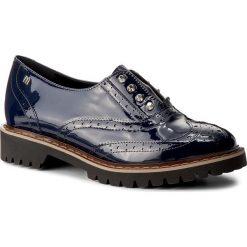 Oxfordy MACCIONI - 4581 Granatowy. Niebieskie półbuty damskie Maccioni, z lakierowanej skóry, na obcasie. W wyprzedaży za 239,00 zł.