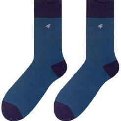 More - Skarpety Business. Niebieskie skarpetki męskie marki More, z bawełny. W wyprzedaży za 9,90 zł.