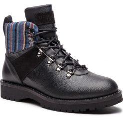 Kozaki TRUSSARDI JEANS - 77A00120 K299. Czarne glany męskie marki Trussardi Jeans, z jeansu. Za 859,00 zł.