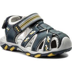 Sandały męskie skórzane: Sandały WALKY – CM0917-1 Granatowy